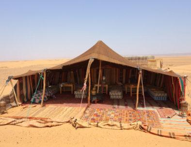 camping in Merzouga desert