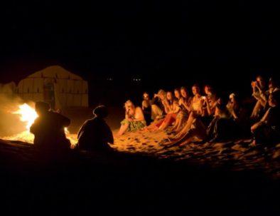 setting up fire for berber music
