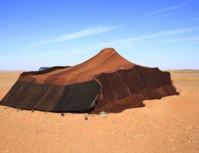 Nomads tent in Merzouga